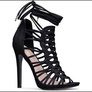 ANALIZA LACE UP HEELED SANDAL sz.8.5 new in box
